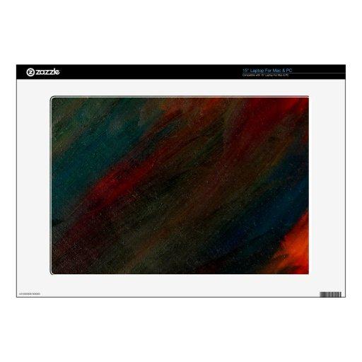 pavo real del otoño - arte de Michelle del amanece 38,1cm Portátil Calcomanías