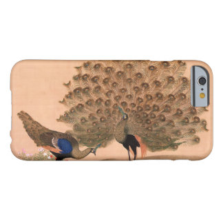 Pavo real del vintage funda para iPhone 6 barely there