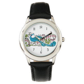 Pavo real del vintage reloj