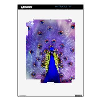 Pavo real en colores pastel skins para iPad 2
