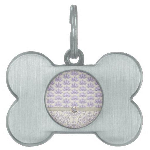 Pavo real en la impresión del damasco y del pavo r placas mascota