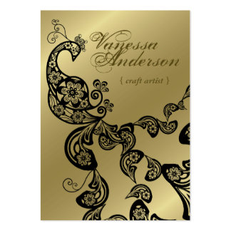 Pavo real floral elegante elegante de Boho Paisley Tarjetas De Visita Grandes