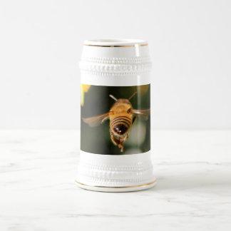 Pavo real hermoso jarra de cerveza