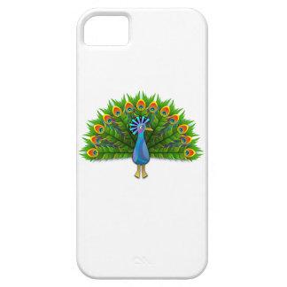 Pavo real hermoso que exhibe el plumaje iPhone 5 Case-Mate funda