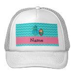 Pavo real lindo conocido personalizado gorra