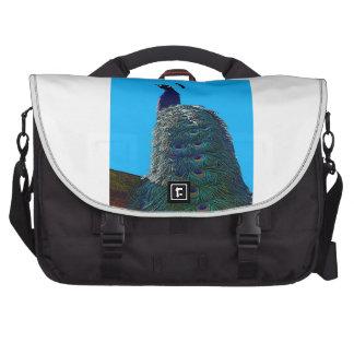 Pavo real orgulloso bolsas para portátil