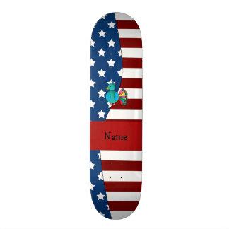 Pavo real patriótico conocido personalizado patines