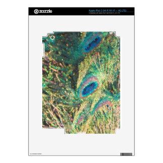 Pavo real pintado iPad 3 pegatina skin