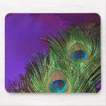 Pavo real púrpura de la hoja alfombrilla de raton