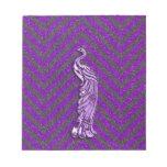 Pavo real púrpura del brillo blocs de notas