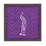 Pavo real púrpura del brillo caja de regalo de calidad