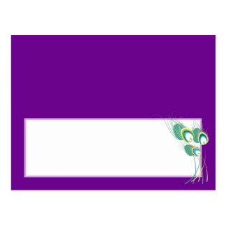 Pavo real púrpura moderno que casa la tarjeta prog postales