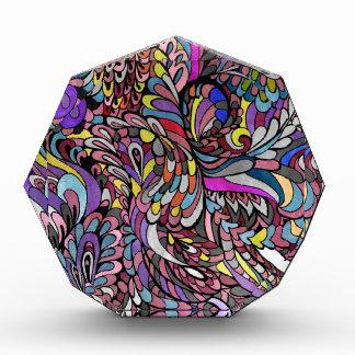 Pavo real púrpura Paisley enrrollada multicolora