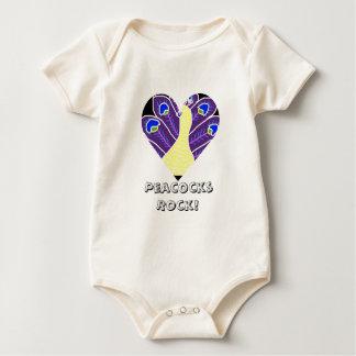 Pavo real púrpura mamelucos