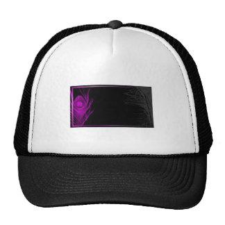 Pavo real púrpura y negro gorras