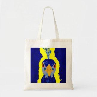 Pavo real que pinta abstracto con los ojos anaranj bolsas lienzo