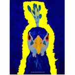 Pavo real que pinta abstracto con los ojos anaranj escultura fotografica