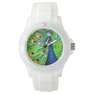 Pavo real reloj de mano