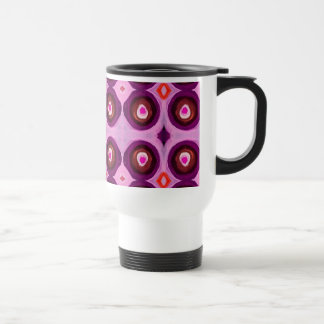 Pavo real rosado tazas de café