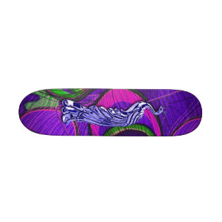 Pavo real rosado y púrpura patinetas personalizadas