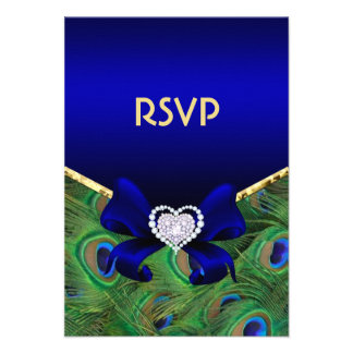 Pavo real RSVP del azul real