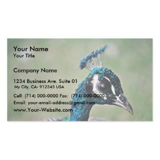 Pavo real tarjetas de visita