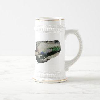 Pavo real tazas de café