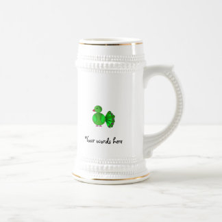 Pavo real verde taza
