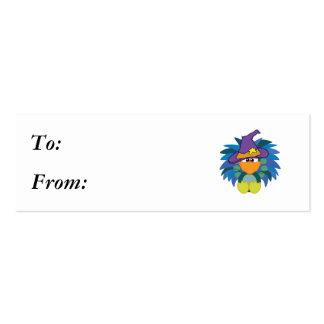 pavo real witchy de los goofkins tarjetas de visita mini