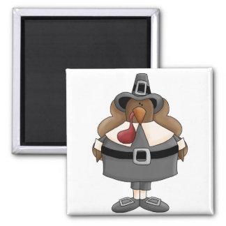 pavo regordete del peregrino iman para frigorífico