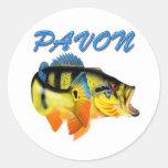 PAVON2 CLASSIC ROUND STICKER