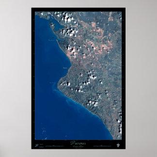 Pavones, Costa Rica satellite poster