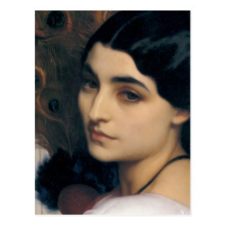 Pavonia in detail - Lord Frederick Leighton Postcard