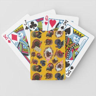 Pavos adaptables de la acción de gracias del barajas de cartas