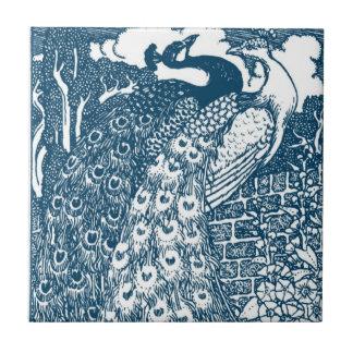Pavos reales de Nouveau del arte Azulejo Ceramica
