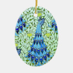 Pavos reales de Nouveau del arte Ornamentos De Reyes