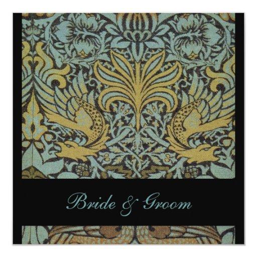 Pavos reales de William Morris que casan Comunicados