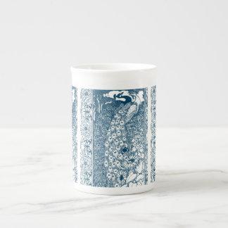 Pavos reales del nouveau del arte del trullo taza de té