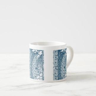 Pavos reales del nouveau del arte del trullo tazas espresso