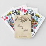 Pavos reales elegantes cartas de juego