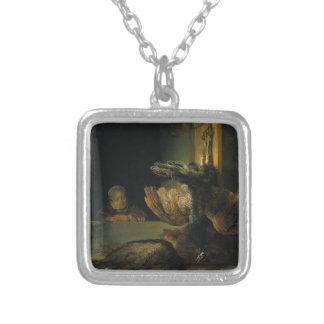 Pavos reales muertos de Rembrandt Colgante Cuadrado