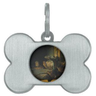 Pavos reales muertos de Rembrandt Placa De Mascota
