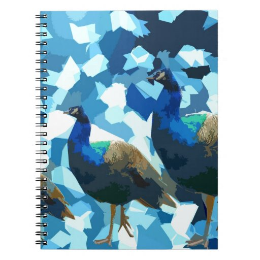 Pavos reales pacíficos cuadernos