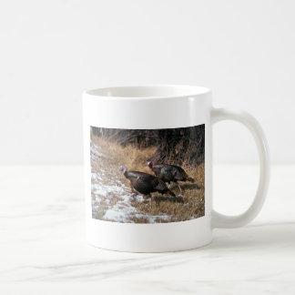 Pavos salvajes de Merriams, gobblers Tazas De Café