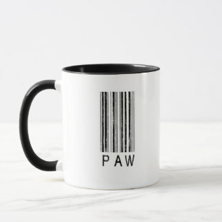 Paw Barcode Mug