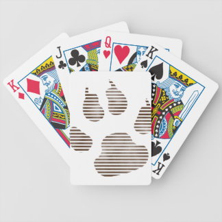 Paw Bicycle Playing Cards