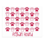 Paw by Paw Afghan Hound Post Card