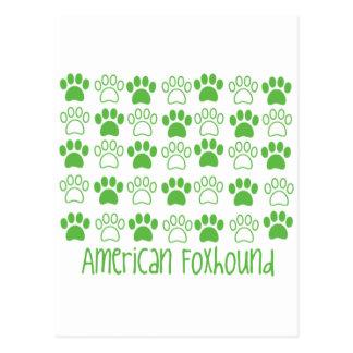 Paw by Paw American Foxhound Postcard
