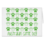 Paw by Paw Australian Cattle Dog Greeting Cards