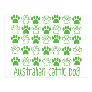 Paw by Paw Australian Cattle Dog Postcard